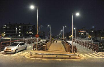El pont de Can Rabella, obert ja al trànsit